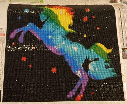 eenhoorn regenboog diamond painting