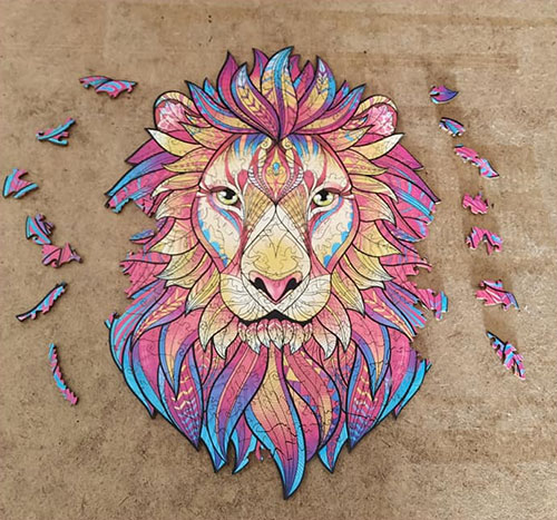 houten puzzel leeuw