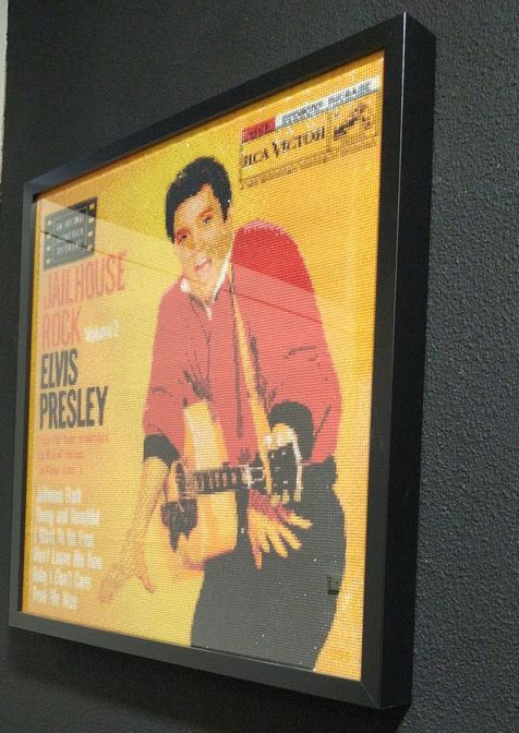 single, elvis presley, jailhouse rock, diamond painting,
