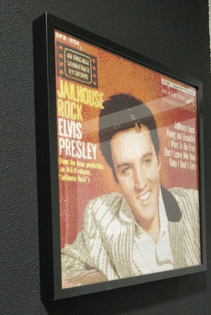 single, elvis presley, jailhouse rock, diamond painting